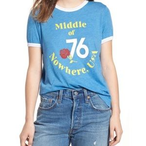NWT-Wildfox-Blue & White T-Shirt